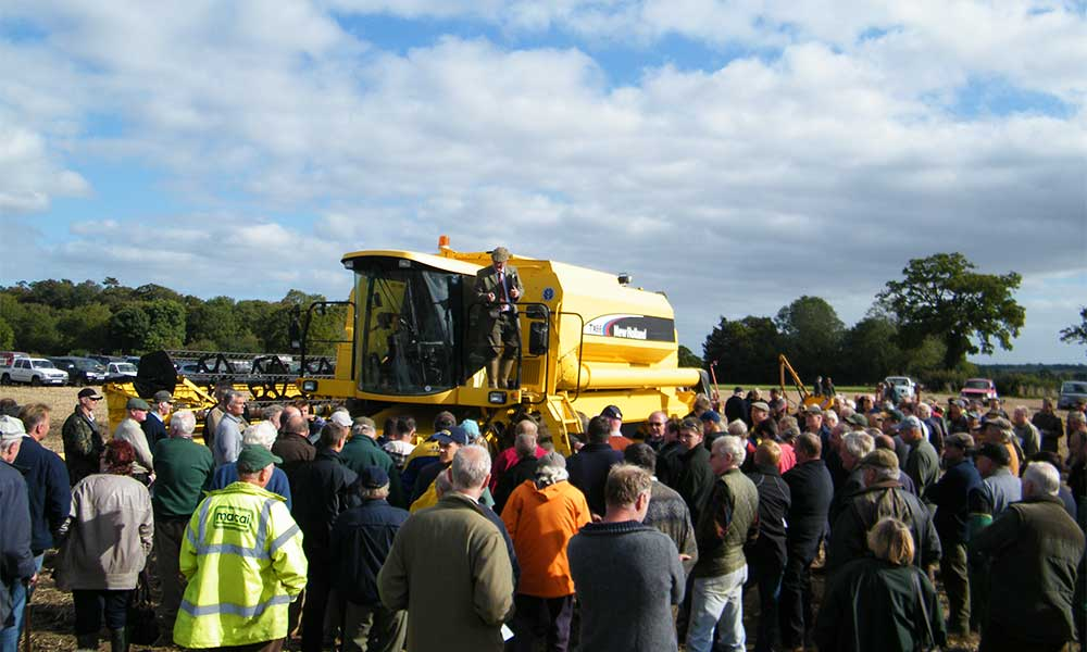 Nicholas Rudge at a Durrants Onsite Machinery Auction
